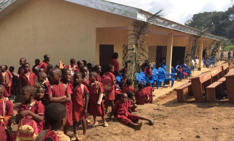 helped to build a school in cameroon aras website